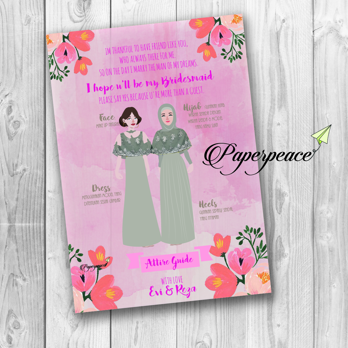 Paperpeace Bridesmaid Attire Guide For Ms Evi