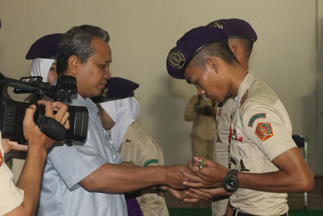 Resimen Mahasiswa (Menwa) Mahadipa Batalyon 923/ Gondo Wingit Universitas Muria Kudus (UMK), kini punya komandan baru, Ahmad Amin.