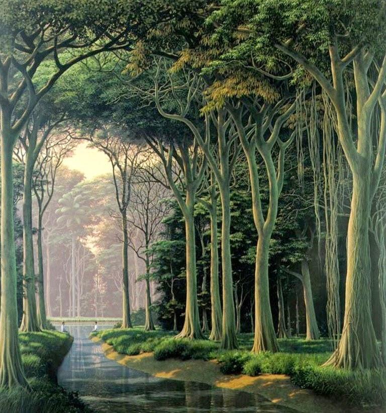 Magnífico Galería De Cuadros De árboles Verdes Fotos - Ideas ...