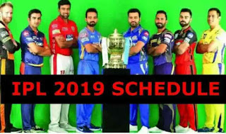 vivo ipl 2019 schedule pointtable ,timetable