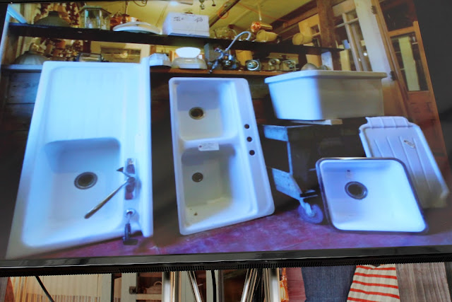 use salvage sinks to remodel