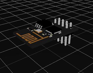 Modul ESP8266 dengan USB to TTL