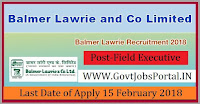 Balmer Lawrie Recruitment 2018 – 42 Field Executive