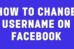 Change Username On Facebook