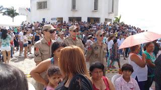 BOMBEIROS DE GUARABIRA REALIZAM PREVENÇÃO NA ROMARIA DE FREI DAMIÃO