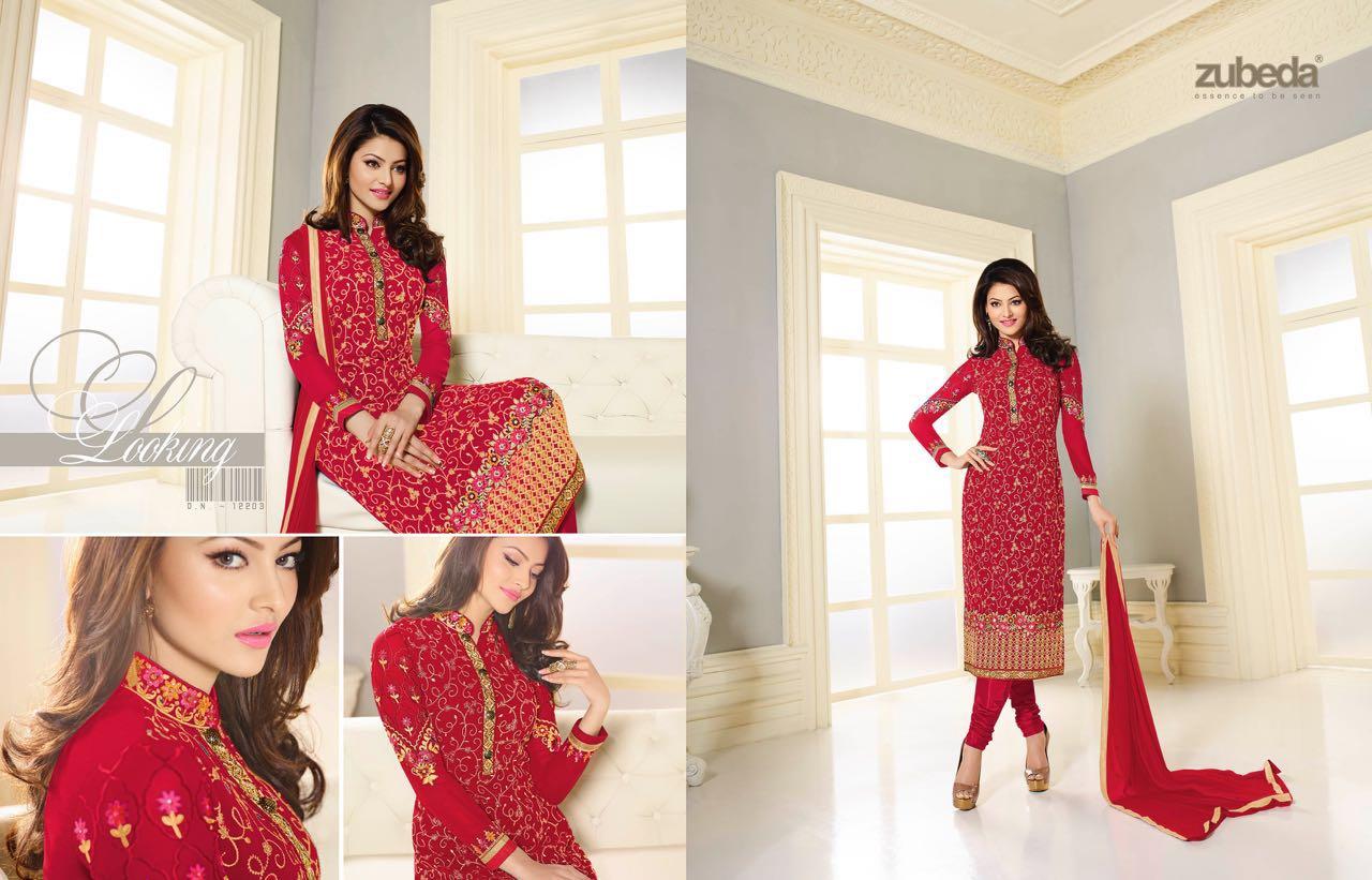 Zubeda Colors – Embroidery Churidar Georgette Salwar Kameez