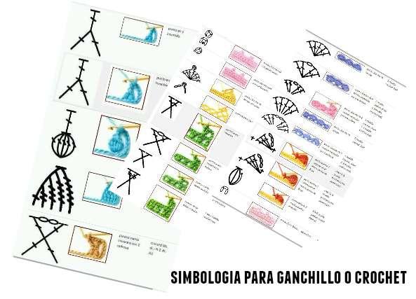 simbología, nomenclatura, símbolos, crochet, ganchillo