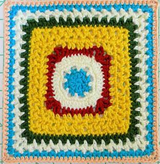 """Free Granny Square Crochet Pattern - Lacy Granny (12"""")"""