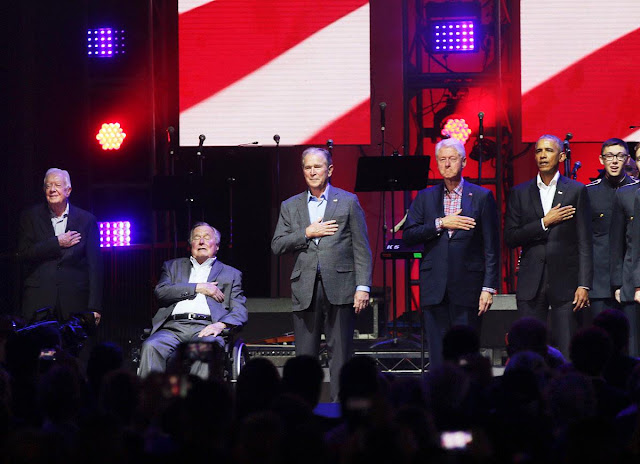 Five former presidents appear together in Texas for hurricane relief concert Onlinelatesttrends