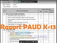 Contoh Raport PAUD Dengan Narasi Sesuai Kurikulum 2013