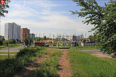 Минск. От моста на Велозавод осталась только насыпь