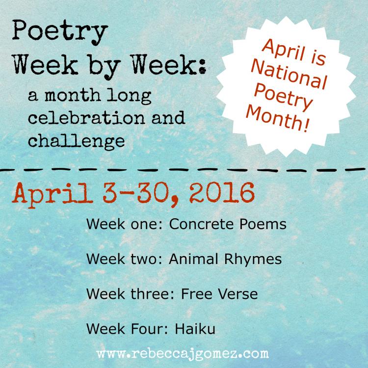A Celebration Of Concrete: Rebecca J. Gomez: Poetry Week By Week: Concrete Poems