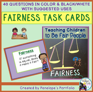 Fairness Character Education - Social Skills Task Cards