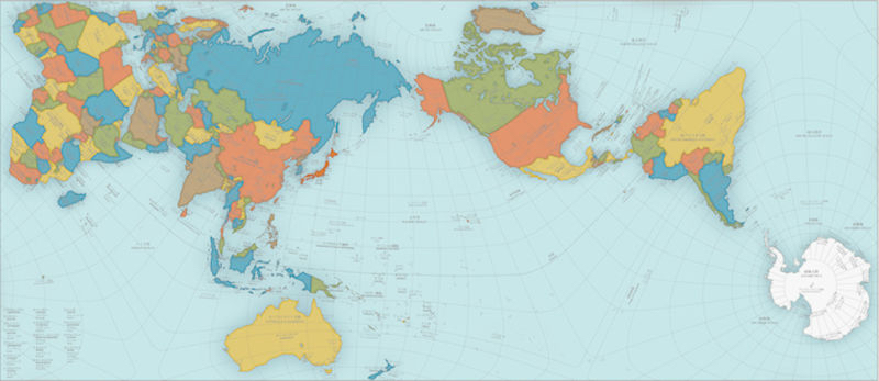 AuthaGraph World Map, by Hajime Narukawa.
