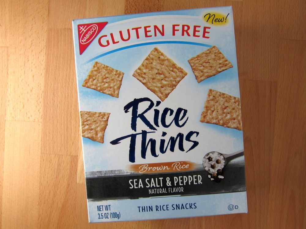 Brown rice thins
