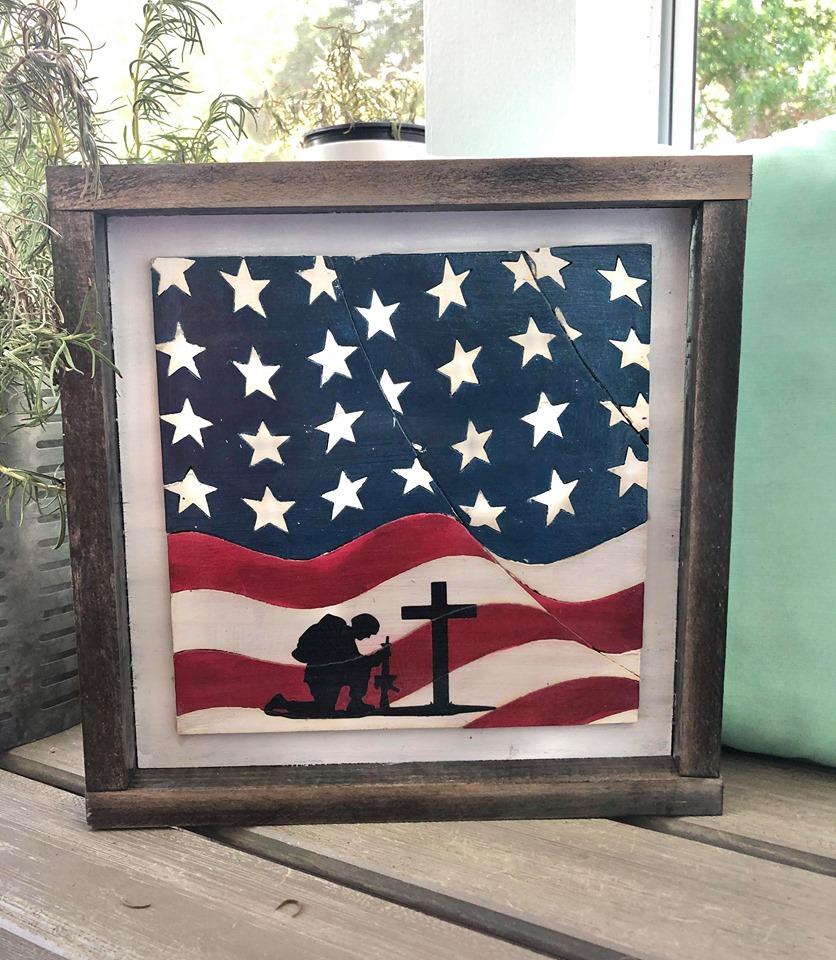 DIY Kit - Wavy American Flag