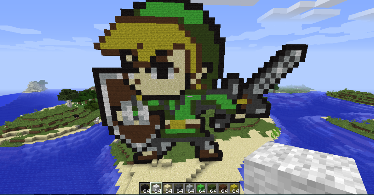 cool pixel art Minecraft