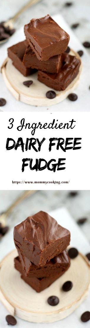 3 Ingredient Dairy Free Fudge #3-ingredient #easycook