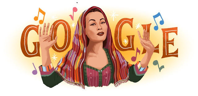 Yma Sumac's 94th birthday - Google Doodle