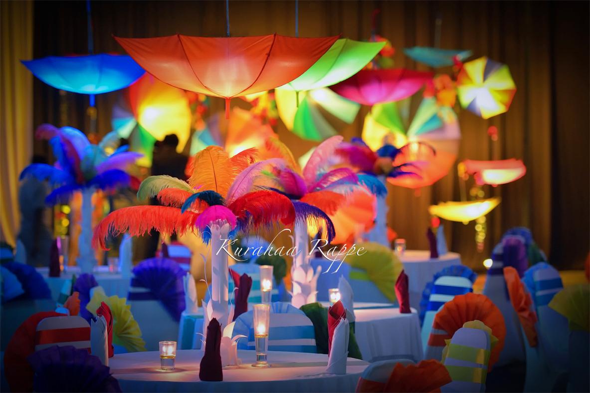 Kurahaa rappe umbrellas wedding backdrop and decoration for 15th august decoration ideas
