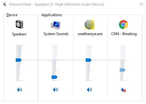 use Volume Mixer to mute your browser