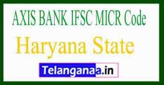 AXIS BANK IFSC MICR Code Haryana State