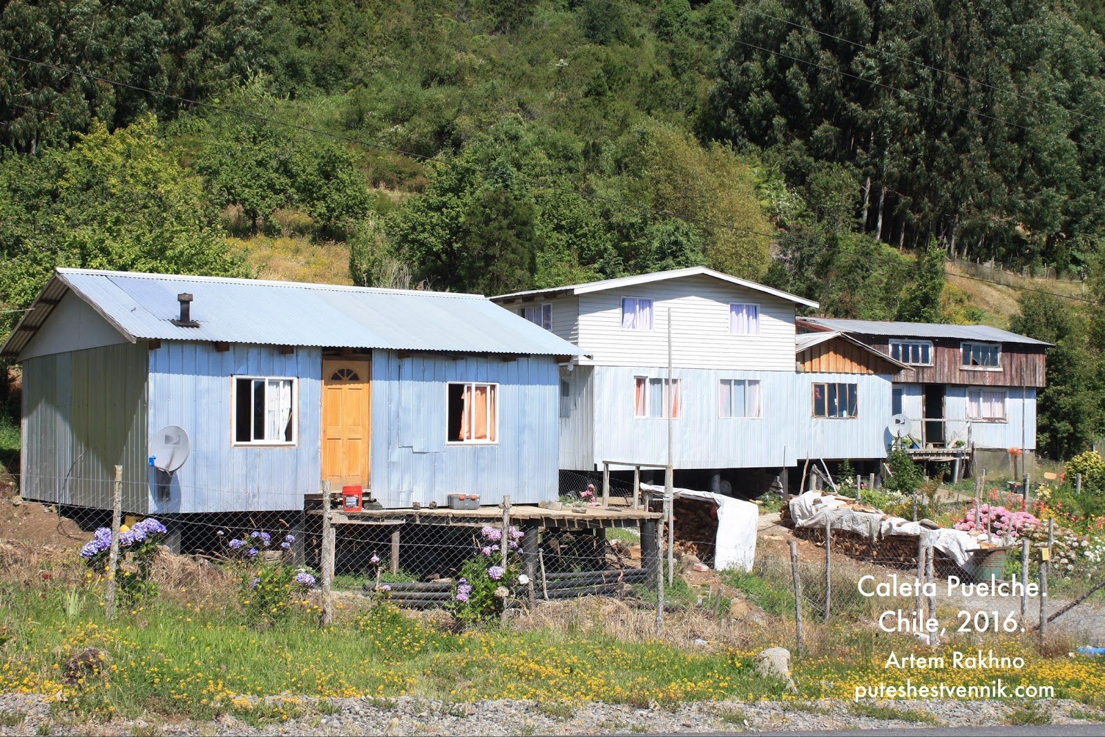 Дома на сваях в Чили