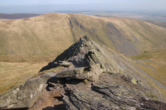 Sharp Edge walk en route to the summit of Blencathra