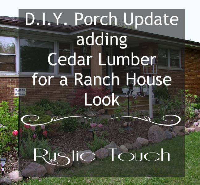 Dishing it digging it link party 96 rustic refined for Adding a farmers porch to a ranch