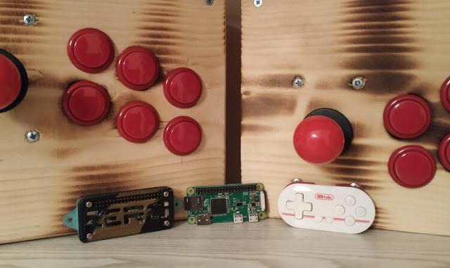 Raspberry Pi Zero, 8bitdo Zero and arcade controllers