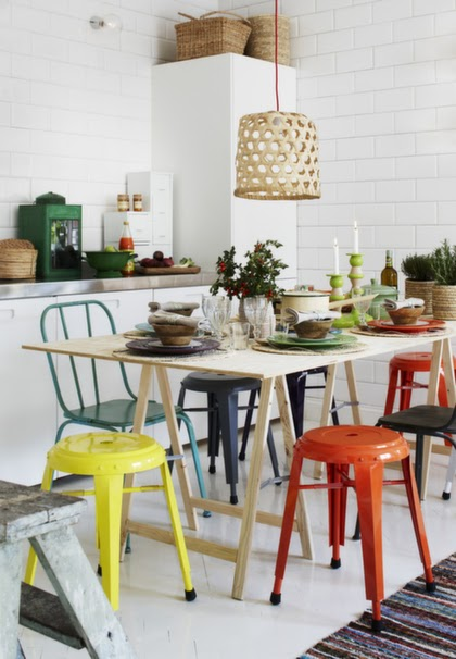 la maison d 39 anna g une touche de couleur. Black Bedroom Furniture Sets. Home Design Ideas