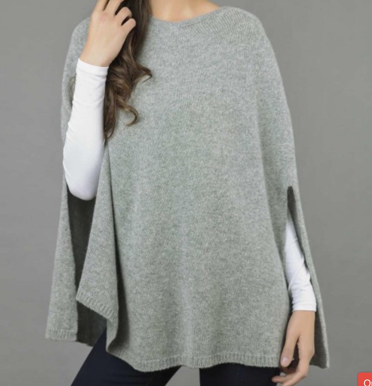 italy in cashmere pure cashmere poncho cape