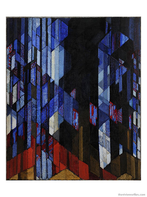 Study in Verticals (The Cathedral) by Frantisek Kupka