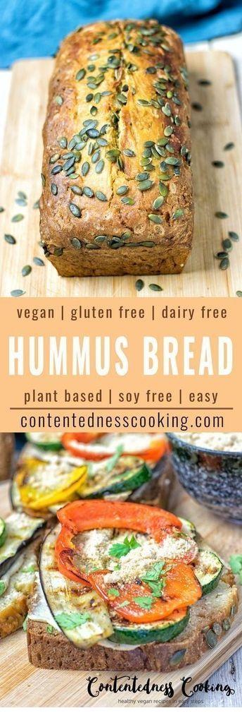 Hummus Homemade Bread