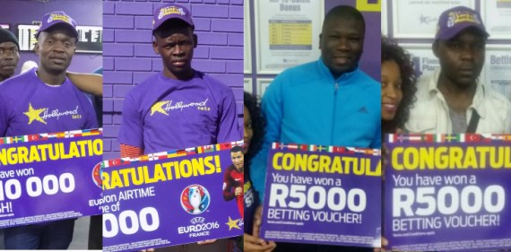The winners from Hollywoodbets Euro 2016 Competition