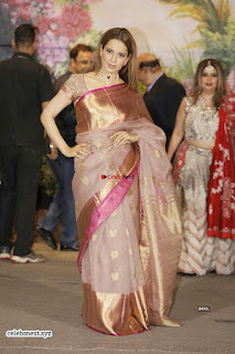 Kangana Ranaut in Saree at Sonam Kapoor Wedding Stunning Beautiful Divas ~ Exclusive