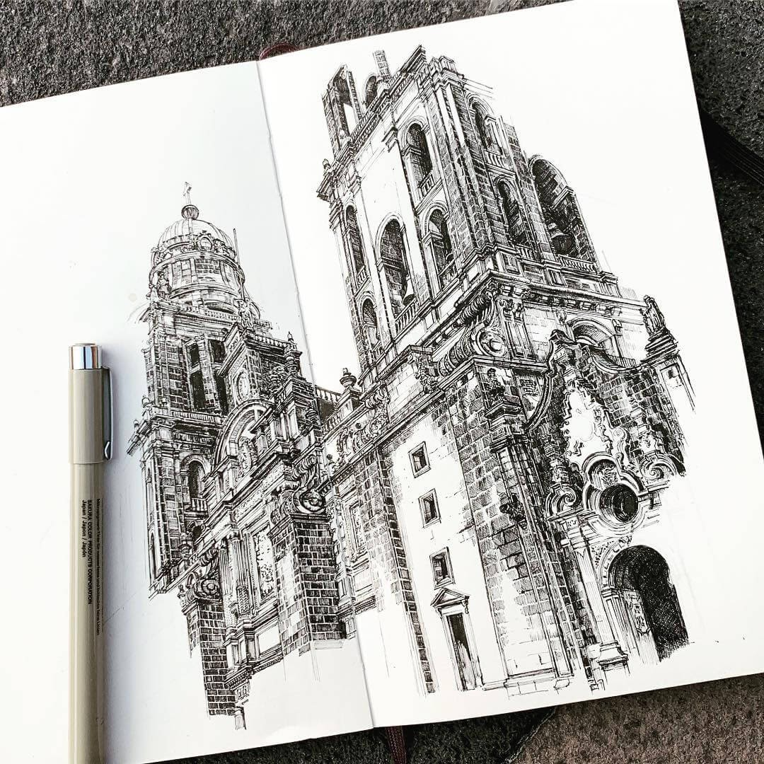 05-Catedral-Metroplolitana-de-la-Cuidad-de-Mexico-MISTER-VI-Architectural-Drawings-From-Around-the-World-www-designstack-co