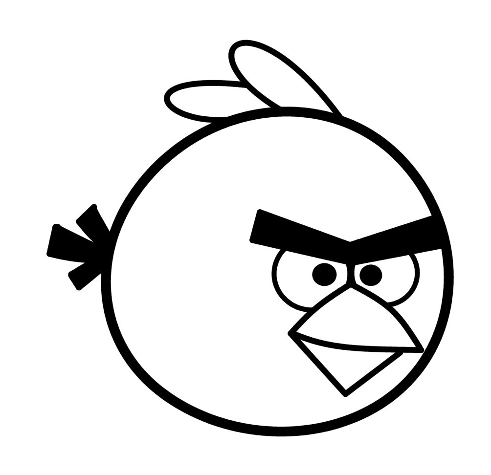 Line Drawing Angry Face : How to draw cartoons angry bird