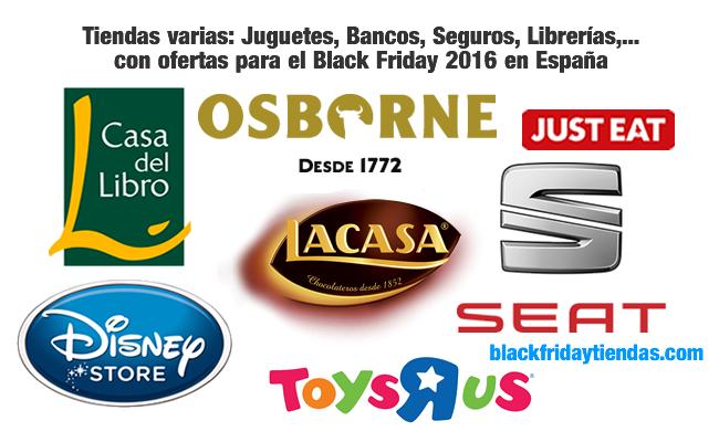 Tiendas varias: Juguetes, Bancos, Seguros, Librerías,... con ofertas para el Black Friday 2016 en España