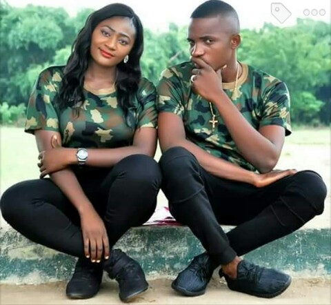 Image of a Beautiful Military Couple's Pre-Wedding