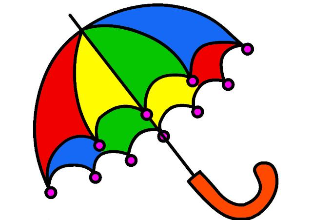 Gambar Mewarnai Payung