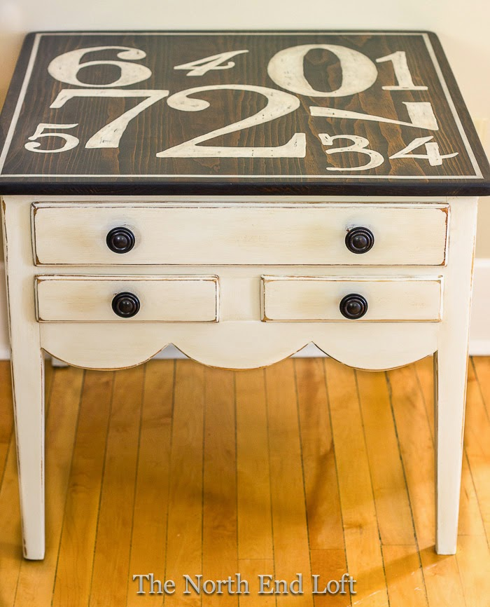 Graphic End Table