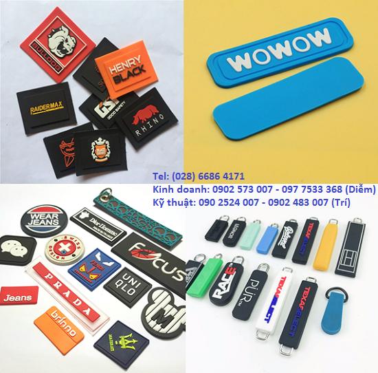 Sản xuất logo nhựa dẻo, mác cao su, nhãn PVC