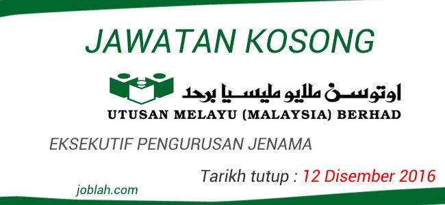 Jawatan Kosong Eksekutif Utusan Melayu