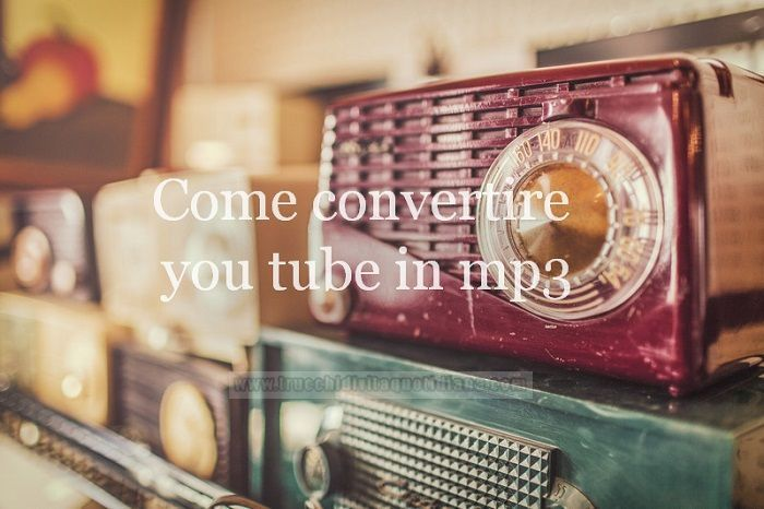 come convertire video youtube in mp3