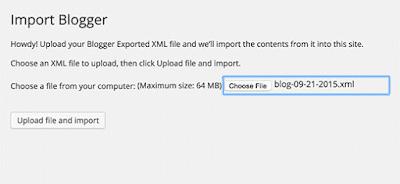 blogger wordpress import save file