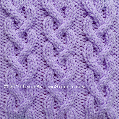 Cable Knitting Stitches » Braid Cable 2-2-2