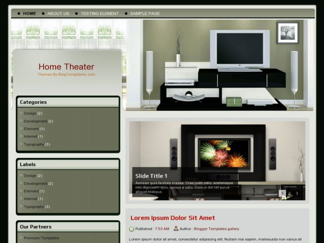 Home Theater Blogger Template