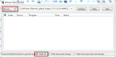 pilih browser dan centang flash all