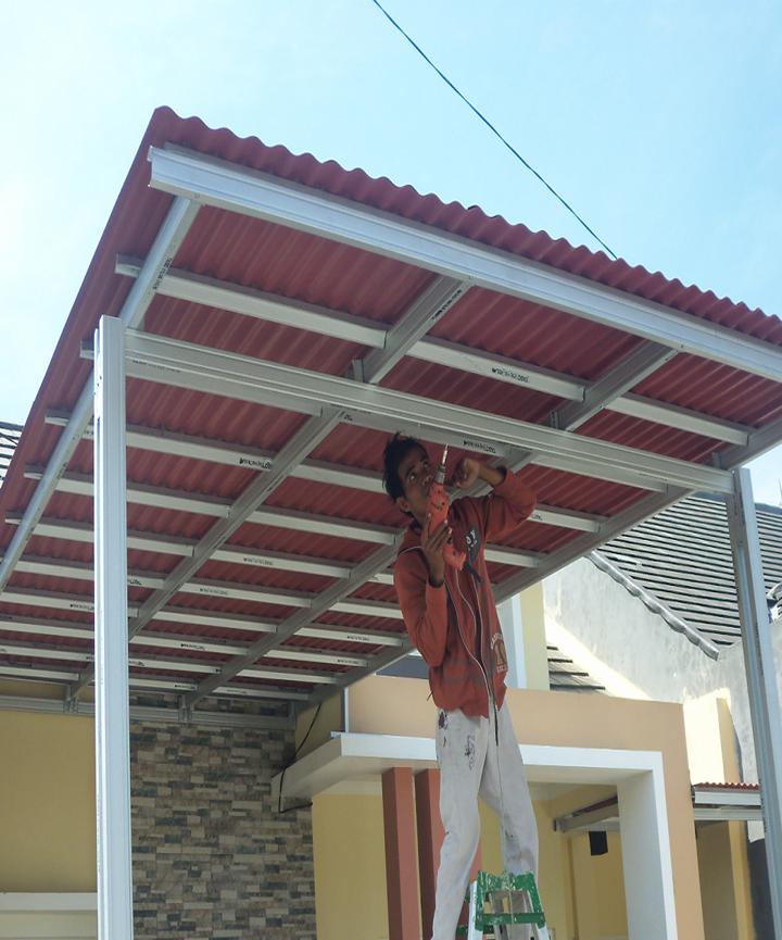 Gambar Baja Ringan Kanopi Jasa Pasang Di Sumber Cirebon